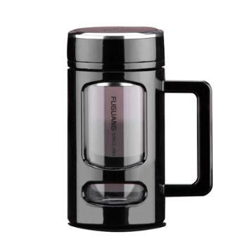 富光玻璃杯便携家用办公茶杯带盖过滤网耐热大容量水杯