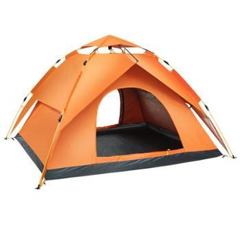 全自动帐篷户外3-4人野营加厚防雨防暴雨双人野外露营帐篷