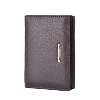 啄木鸟PLOVER头层牛皮名片包卡片包卡包一体功能包棕色GD5158-BX