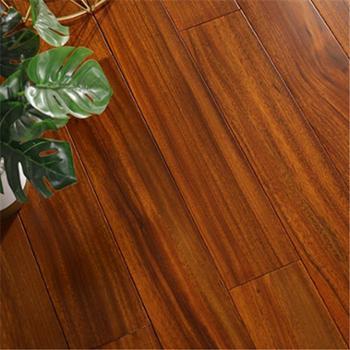 纯实木地板圆盘豆原木本色家用环保耐磨910*123*18mm