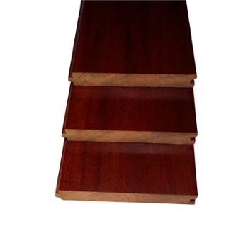 欢韵实木地板 圆盘豆酒红色地板 910*90*18mm