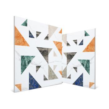 彩色水磨石瓷砖600X600卫生间花砖墙地砖