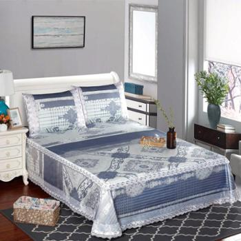 高档可水洗床笠床单式冰丝席 加厚加密 格调岁月