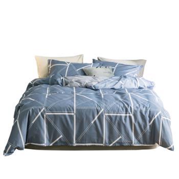 心恋巢北欧极致简约风纯棉四件套 全棉床上套件 环保亲肤自然