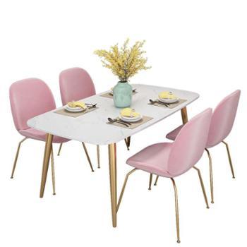 餐桌轻奢大理石餐桌椅组合简约后现代小户型饭桌家用