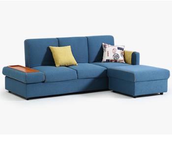 懒人沙发转角多功能两用北欧布艺沙发