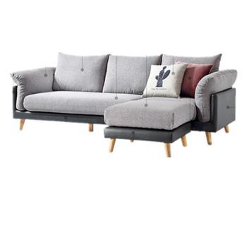 布艺沙发日式实木脚沙发经济型