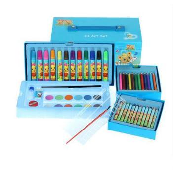 儿童宝宝益智水彩色涂图绘画彩色铅蜡笔美术组合礼盒