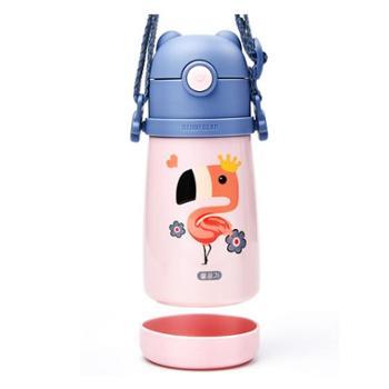 杯具熊儿童浮雕学饮保温杯300ml不锈钢316镜面内胆宝宝便携吸管杯