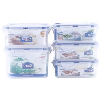 乐扣乐扣保鲜盒5件套装饭盒套装HPL855S001