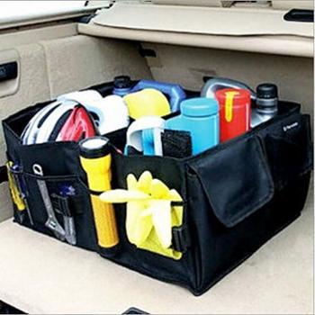 哈雷汽车整理箱车载收纳箱储物箱后备箱无纺布置物箱收纳盒大款包