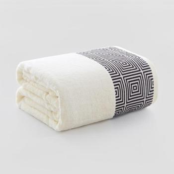 图强毛巾被竹浆纤维春秋毯双人空调毯子纯色加大厚办公室盖毯