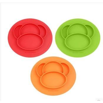 CloudBaby儿童餐具婴儿吸盘碗分割硅胶防摔餐盘宝宝训练吃饭碗