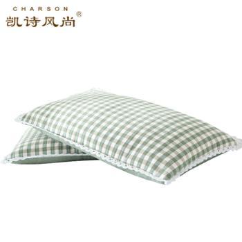 凯诗风尚维拉色织枕头全棉荞麦枕