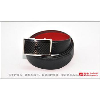 本命年吉祥如意(内穿)自动扣男士红皮带裤带礼盒礼袋装吉祥如意红腰带