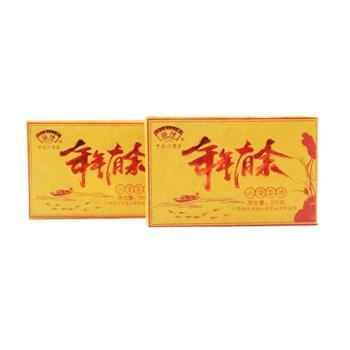 """金益茶业""""年年有余""""六堡茶砖250g/砖广西黑茶"""