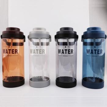 亿本大水杯便携超大容量带吸管太空杯运动健身户外水壶塑料泡茶杯