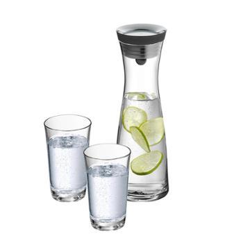 德国WMF福腾宝冷水壶家用玻璃过滤4色可选倒水瓶凉水壶1L