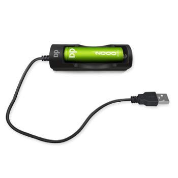 久量18650锂电池充电器单槽强光手电筒智能充电器座充
