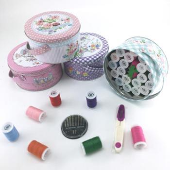 乐绮绣家用针线盒套装多功能手提便携式缝纫缝补结婚针线包