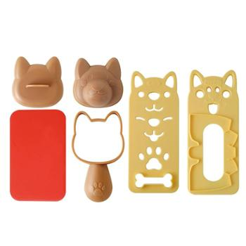 Arnest小狗饭团寿司模具套装 卡通儿童米饭便当DIY厨房做饭工具