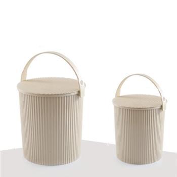 稻草屋多功能条纹水桶家用厚实大号塑料提手水桶洗车桶钓鱼桶带盖