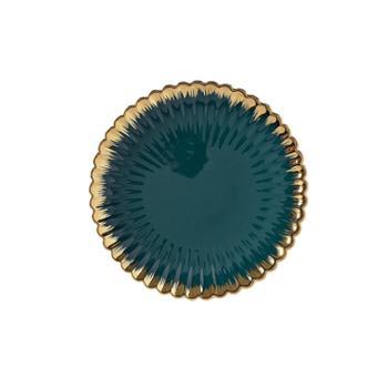 维光 北欧陶瓷水果盘个性创意金边精致现代沙拉碗果盆