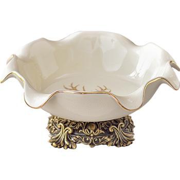 景逸 果盘陶瓷家用创意客厅茶几用