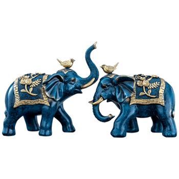 知书阁树脂工艺品大象摆件JKD3738