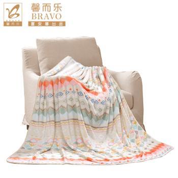 馨而乐富安娜出品法兰绒毯子毛毯