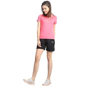 思凯乐户外运动跑步T恤女款圆领简约健身速干短袖骑行防晒衣