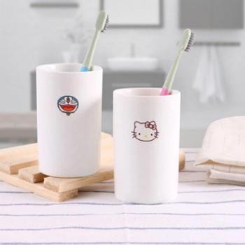 刷牙杯 陶瓷 漱口杯简约卡通牙缸杯创意洗漱杯水杯情侣个性牙刷杯