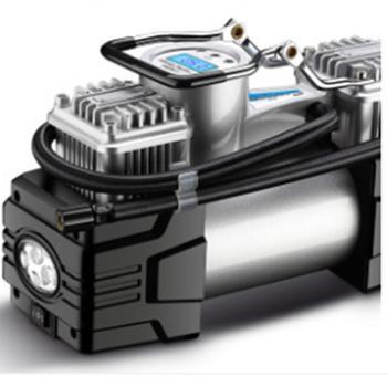 酷克斯双缸车载充气泵12V便携式小娇车越野车轮胎电动汽车打气泵 机械表款