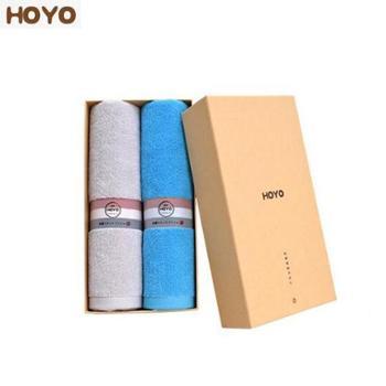 HOYO抗菌运动巾两件套 牛皮纸礼盒毛巾2条装 100%棉 140g 7257