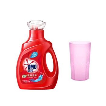 奥妙 深层洁净洗衣液2kg+食品级塑料杯子 刷子 挂钩 赠品随机发货