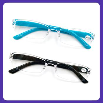 小物家园 超轻老人时尚舒适老花眼镜-2副黑色装