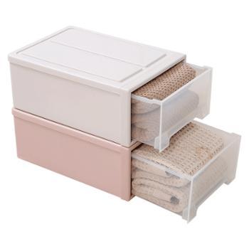 小物家园单层抽屉式收纳盒衣柜整理箱收纳箱