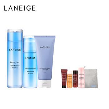 兰芝/Laneige水衡水乳护肤套装+多效洁颜膏