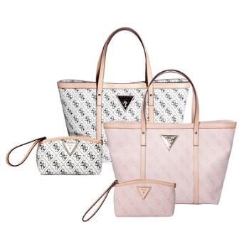 GUESS女士字母时尚印花手提单肩包化妆包两件套GSDZKPIN001/GSDZKWHI001(两色选一)