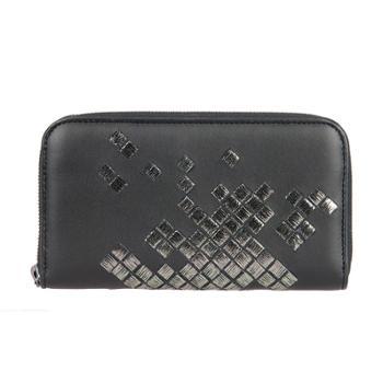 BottegaVeneta宝缇嘉女式黑色羊皮长款拉链钱夹114076VAXS11160
