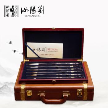 汝阳刘天时地利人和礼品套笔