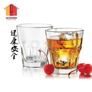 sohome无铅玻璃白酒杯酒具套装烈酒杯水杯威士忌酒杯6只装