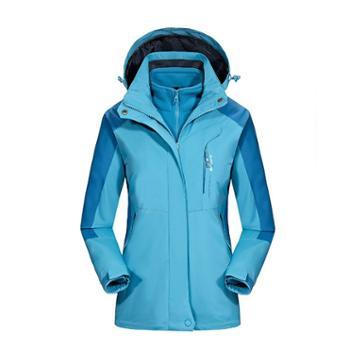 凯仕达登山服加大码滑雪外套三合一冲锋衣