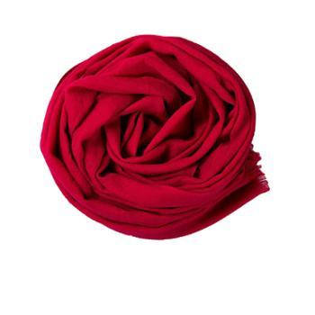 戎立特素色羊毛围巾ES7141