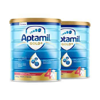 Aptamil【2件装】澳洲爱他美金装婴幼儿奶粉4段900g