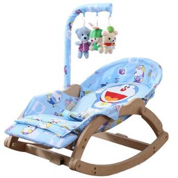婴儿摇椅躺椅宝宝安抚椅儿童摇摇椅BB摇篮床哄睡哄娃神器实木