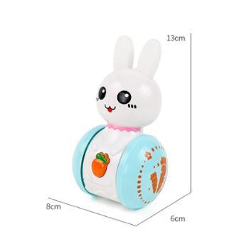 小兔子音乐滑行不倒翁 婴儿宝宝0-1-3岁早教男女孩益智儿童玩具