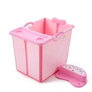 贝喜儿童洗澡桶婴儿游泳池宝宝泡澡浴桶可坐躺折叠家用加大号浴盆