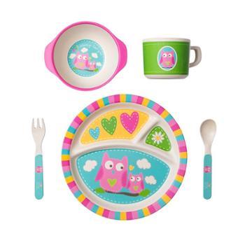 COECO/可爱客 竹纤维儿童餐具套装辅食宝宝餐盘婴儿分格卡通饭碗叉