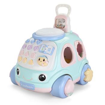 优乐恩早教益智拉线玩具车声光音乐牵引玩具女男宝宝电话车